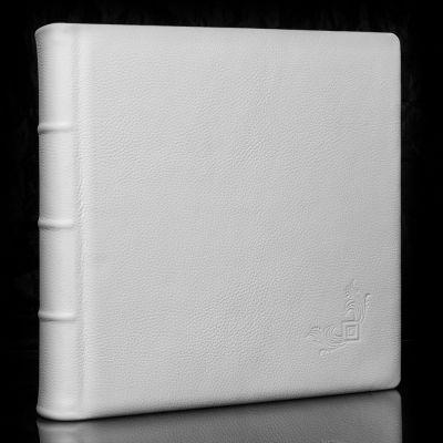 Album Exclusive - skóra naturalna biała M06 33x33cm/50 kart