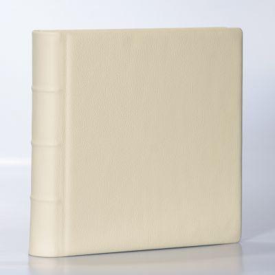 Album Exclusive - skóra naturalna ecru 33x33cm/50 kart
